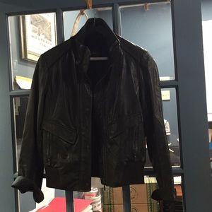 Womens Cole Haan Leather Jacket